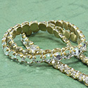 Rhinestone Banding with Brilliant 2-Cut Chaton Rose 1 Row - Round 20SS CRYSTAL-RAW-WHITE