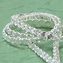Rhinestone Banding with Brilliant 2-Cut Chaton Rose 1 Row - Round 20SS CRYSTAL-SILVER-WHITE