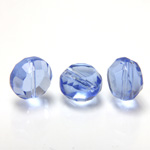 Chinese Cut Crystal Bead - Round Disc Side Drilled 08MM LT SAPPHIRE