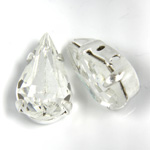 Crystal Stone in Metal Sew-On Setting - Pear 13x7.8MM CRYSTAL-SILVER