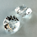 Plastic Bead -  Faceted Octagon Rivoli 20MM CRYSTAL