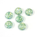Glass Medium Dome Lampwork Cabochon - Round 09MM MINT OPAL (02201)