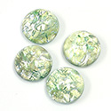Glass Medium Dome Lampwork Cabochon - Round 15MM MINT OPAL (02201)
