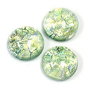 Glass Medium Dome Lampwork Cabochon - Round 18MM MINT OPAL (02201)