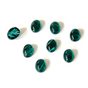 Glass Medium Dome Lampwork Cabochon - Oval 07x5MM FLAWED EMERALD