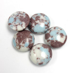 Synthetic Cabochon - Round 13MM Matrix SX07 BROWN-TURQUOISE