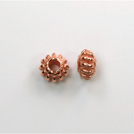 Metalized Plastic Bead - Ribbed Spacer 08MM COPPER