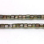 Czech Glass Fire Polished Bead - Atlas 04x4MM LUMI COAT GREEN