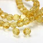 Chinese Cut Crystal Bead - Round Disc Side Drilled 04MM TOPAZ