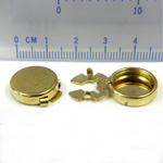 Metal Findings Button Cover Brass 15MM