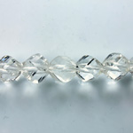 Indian Cut Crystal Bead - Helix Twisted 10MM CRYSTAL