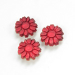 Glass Flat Back Foiled Mirror - Daisy 10MM MATTE RUBY