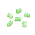 Czech Pressed Glass Bead - Smooth Bow 09x5MM PORPHYR GREEN