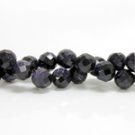Man-made Bead - Faceted Round 10MM BLUE GOLDSTONE
