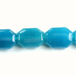 Gemstone Bead - Round Cushion Octagon 19x14MM Dyed QUARTZ Col. 30 AQUA