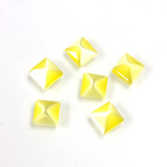 Fiber-Optic Cabochon - Pyramid Top 06x6MM CAT'S EYE YELLOW