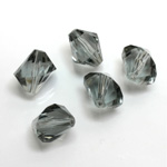 Plastic Bead -  Faceted Diamond 12MM BLACK DIAMOND