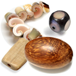 Wood, Shell and Bone Beads