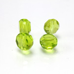 Chinese Cut Crystal Bead - Round Disc Side Drilled 06MM LT OLIVINE