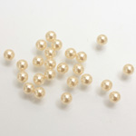 Plastic Pearl No-Hole Ball 04MM CREME