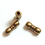 Brass Machine Made Bead - Fancy Tube 10x4MM RAW BRASS