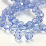 Chinese Cut Crystal Bead - Round Disc Side Drilled 04MM LIGHT SAPPHIRE