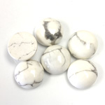 Gemstone Cabochon - Round 12MM WHITE HOWLITE