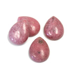 Gemstone Cabochon - Pear 16x12MM RHODONITE