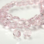 Chinese Cut Crystal Bead - Round Disc Side Drilled 04MM ROSALINE