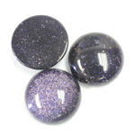 Man-made Cabochon - Round 18MM BLUE GOLDSTONE