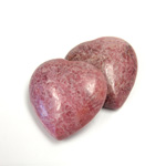 Gemstone Cabochon - Heart 25MM RHODONITE