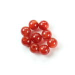Gemstone Bead - Smooth Round 2.5MM Diameter Hole 08MM CORNELIAN