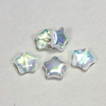 Czech Pressed Glass Bead - Star 12MM CRYSTAL AB