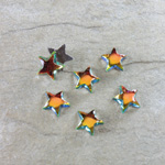 Glass Cabochon - Star 08MM VITRAIL MED Foiled