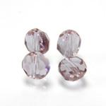 Chinese Cut Crystal Bead - Round Disc Side Drilled 06MM ALEXANDRITE