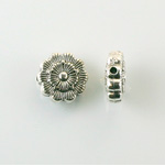 Metalized Plastic Bead - Flat Round 13MM ANTIQUE SILVER