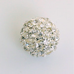 Rhinestone Ball 18MM CRYSTAL-SILVER