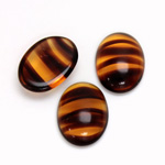 Glass Medium Dome Cabochon - Oval 18x13MM TORTOISE