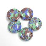 Synthetic Cabochon - Round 13MM Matrix SX11 GREEN-BLUE-BROWN