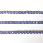 Fiber Optic Synthetic Cat's Eye Bead - Round Faceted 03MM CAT'S EYE TANZANITE
