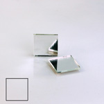 Glass Flat Back Foiled Mirror - Square 15x15MM CRYSTAL
