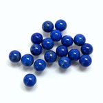 Gemstone No-Hole Ball - 06MM HOWLITE DYED LAPIS