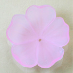 German Plastic Flower with Center Hole - Round 35MM MATTE ROSE