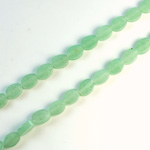 Gemstone Bead - Flat Top Oval 07x5MM AVENTURINE-GREEN