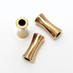 Brass Bead - Lead Safe Machine Made Concave Tube 11x4MM RAW BRASS