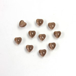 Fiber-Optic Cabochon - Heart 04MM CAT'S EYE BROWN