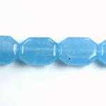 Gemstone Bead - Round Cushion Octagon 19x14MM Dyed QUARTZ Col. 12 CALCEDON