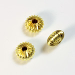 Brass Corrugated Bead - Standard Rondelle 10x6MM RAW