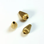 Brass Corrugated Bead - Standard Pear 10x6MM RAW