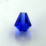 Chinese Cut Crystal Bead - Cone 06x5MM SAPPHIRE